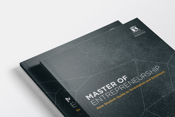 The University Of Melbourne Master of Entrepreneurship Booklet