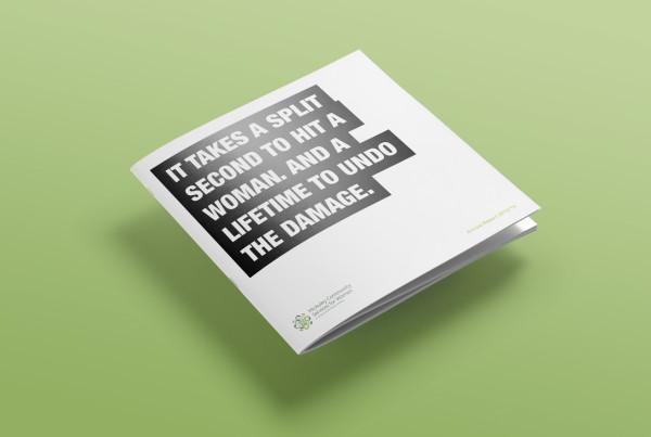 McAuley CSW Annual Report Graphic Design