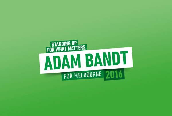 Adam Bandt - The Greens Campaign Logo 2016
