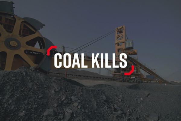 #StopAdani Branding Logo Design Coal Kills